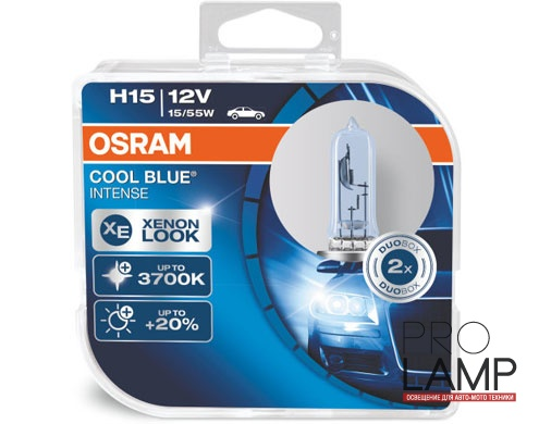 Галогеновые лампы Osram Cool Blue Intense H15 - 64176CBI-HCB